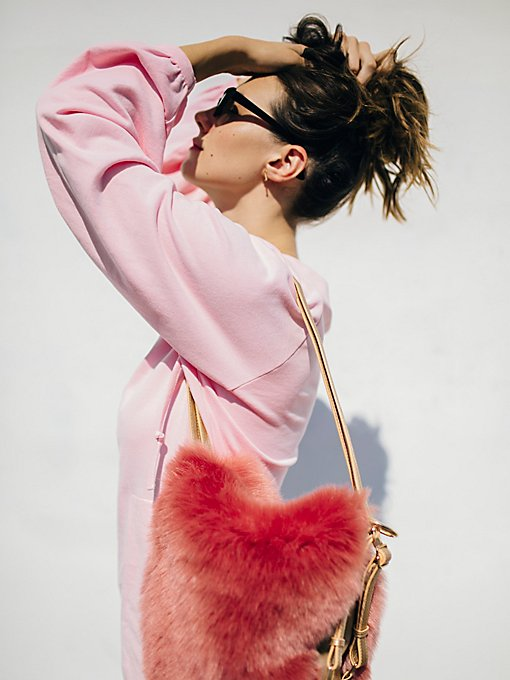 Product Image: Faux Fur Convertible Backpack