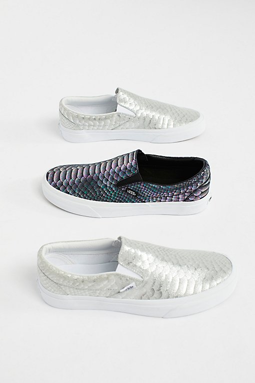 Product Image: Classic Slip-On Metallic Snake Trainer