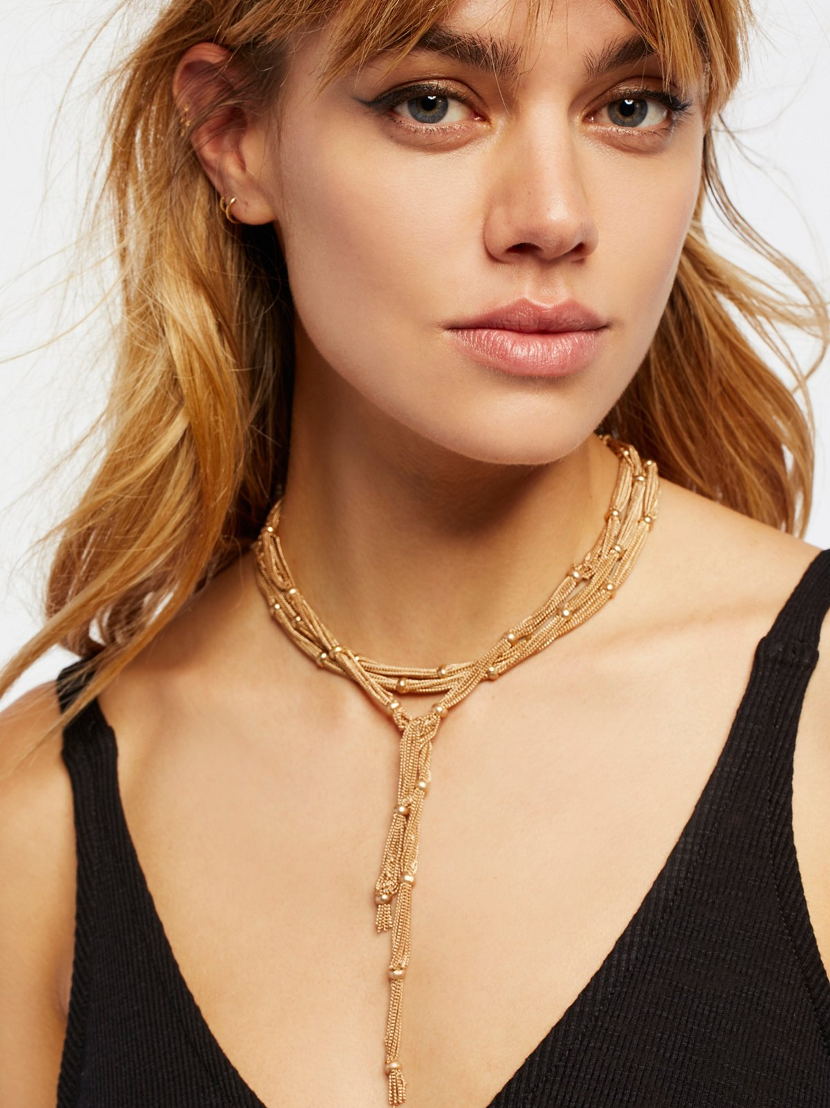 Cora Chain Wrap Scarf Necklace