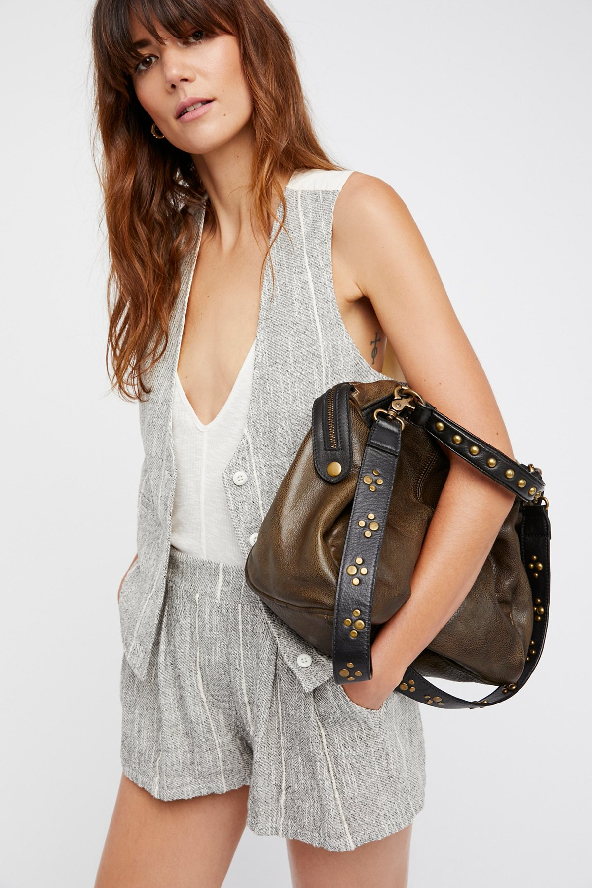 Ocean Side Leather Tote