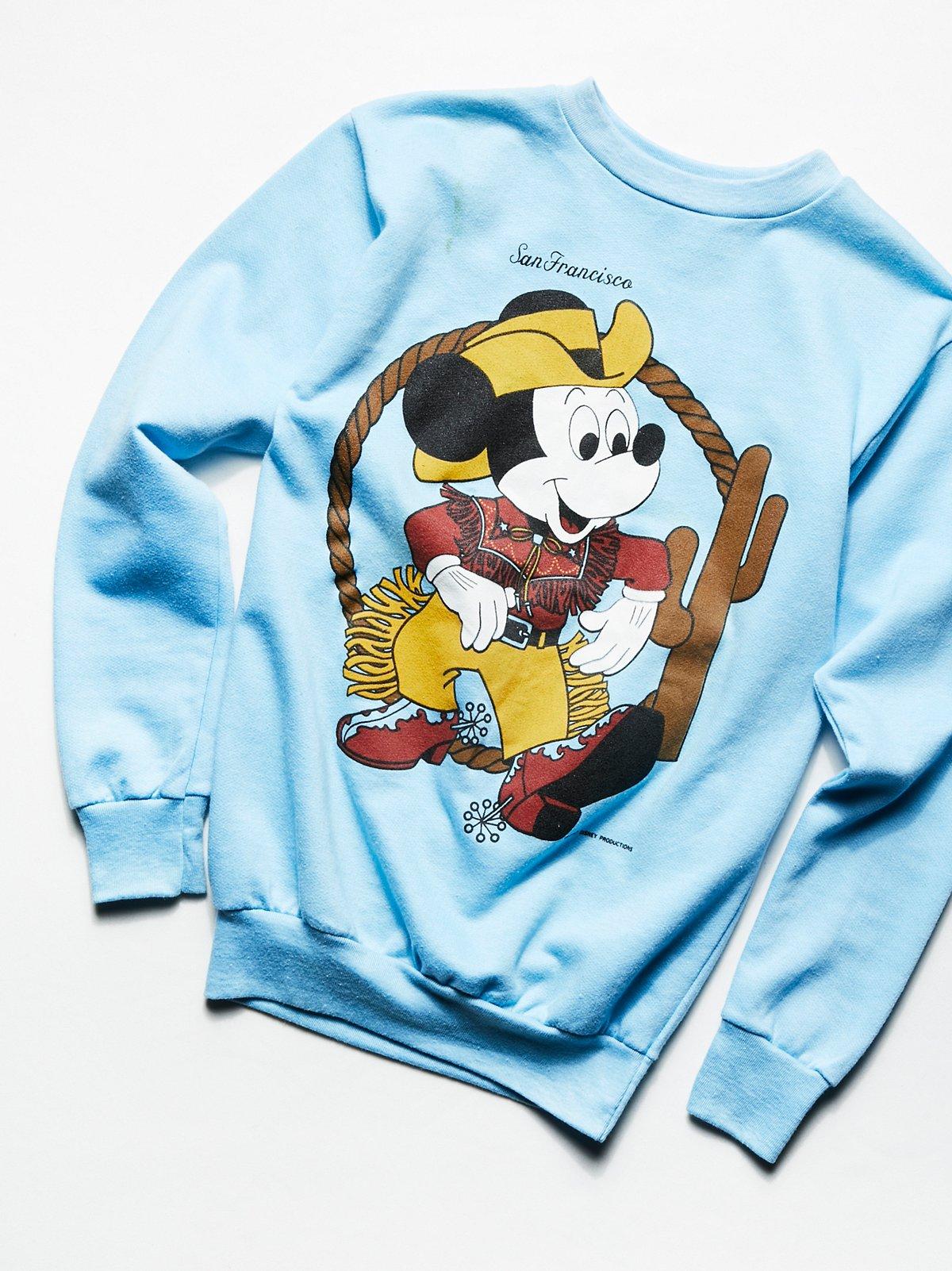 Vintage 1970s Mickey Mouse Sweatshirt