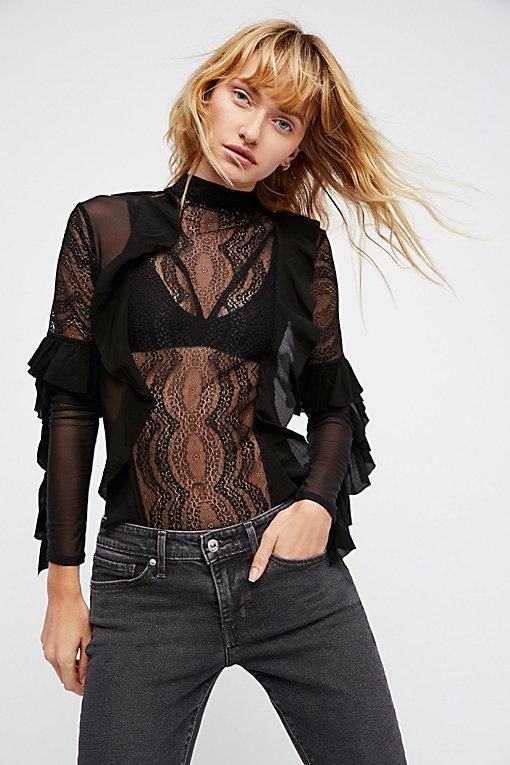 Product Image: Eva Lace Ruffle Bodysuit