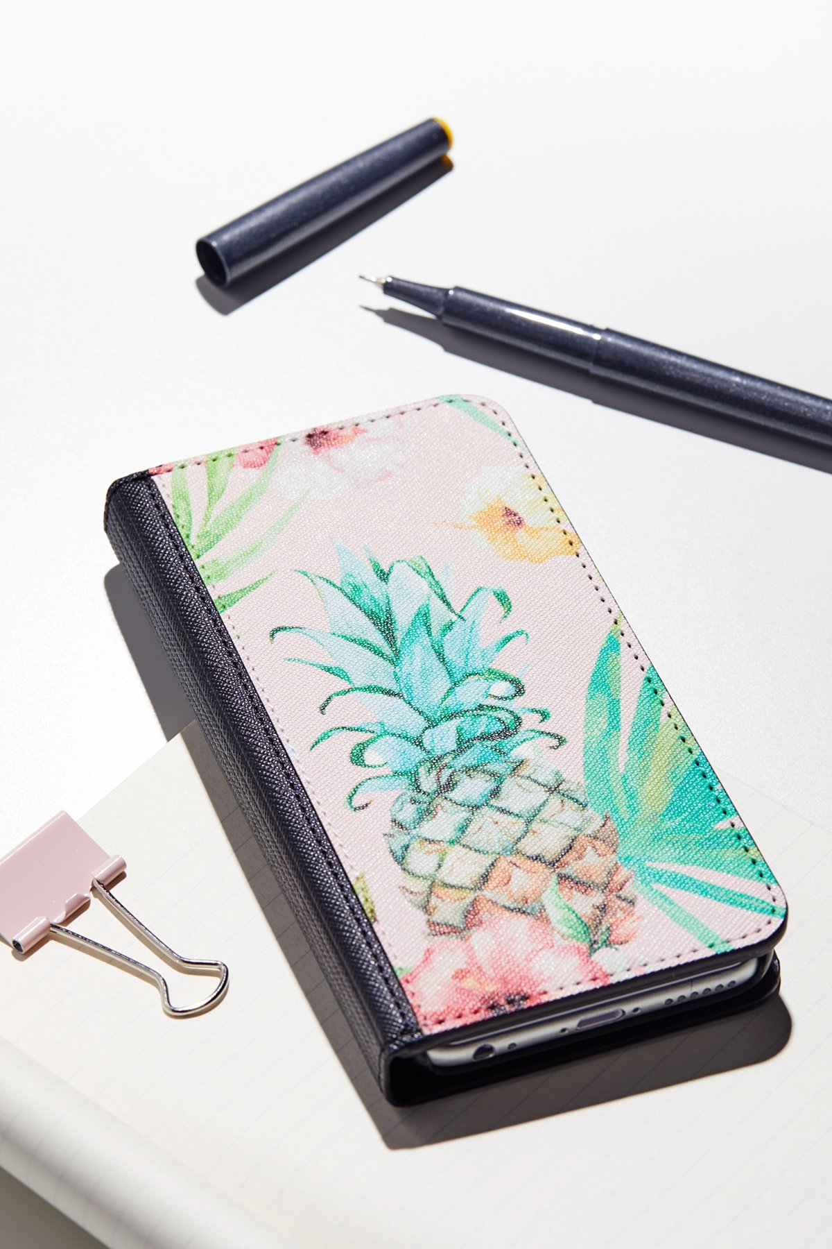 Printed Leather Wallet Case