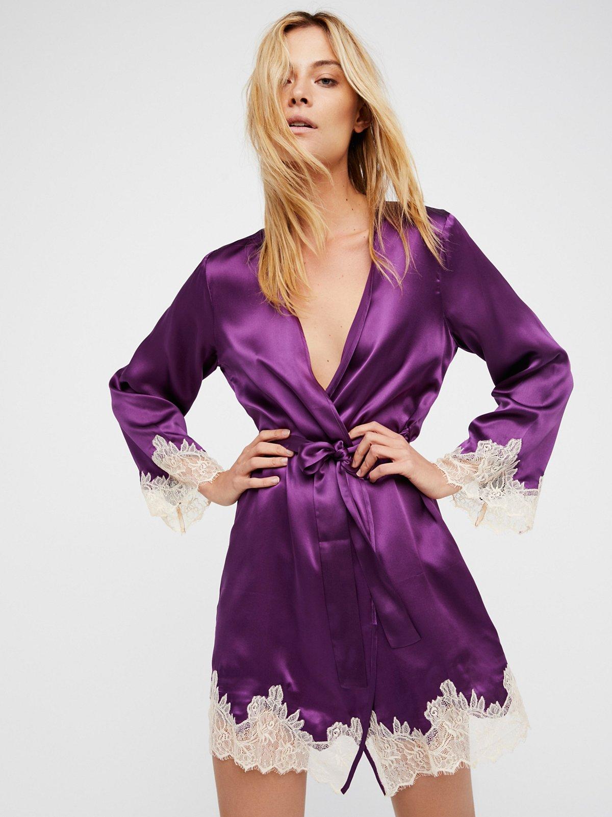 Bonnie丝绸和服式上衣