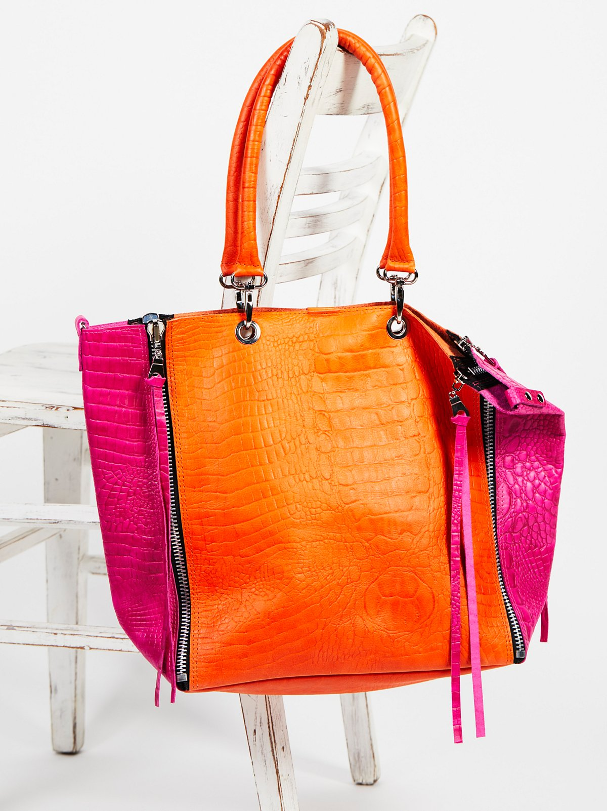 Bright Lights Leather Tote