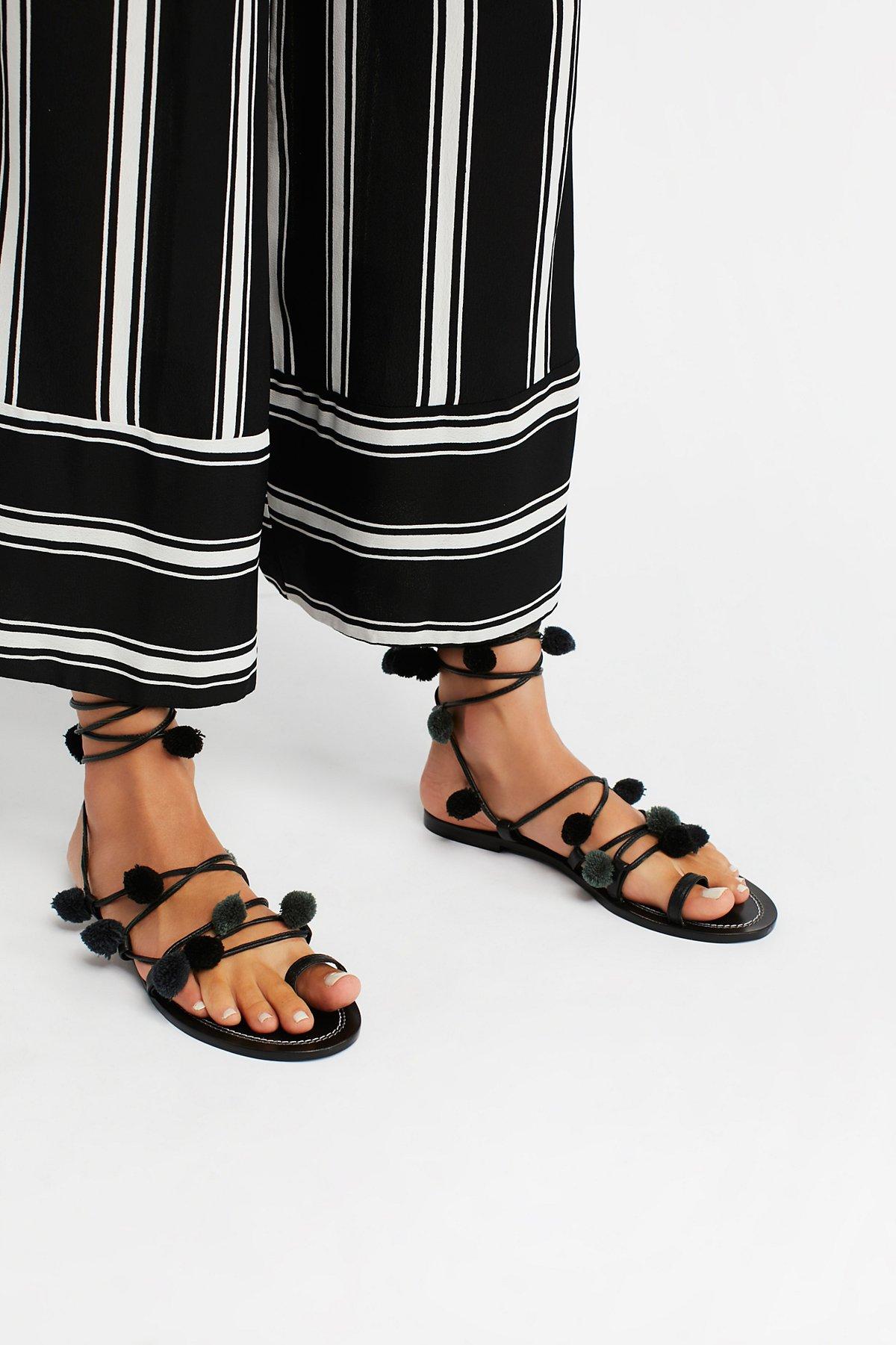 Raining绒球装饰凉鞋