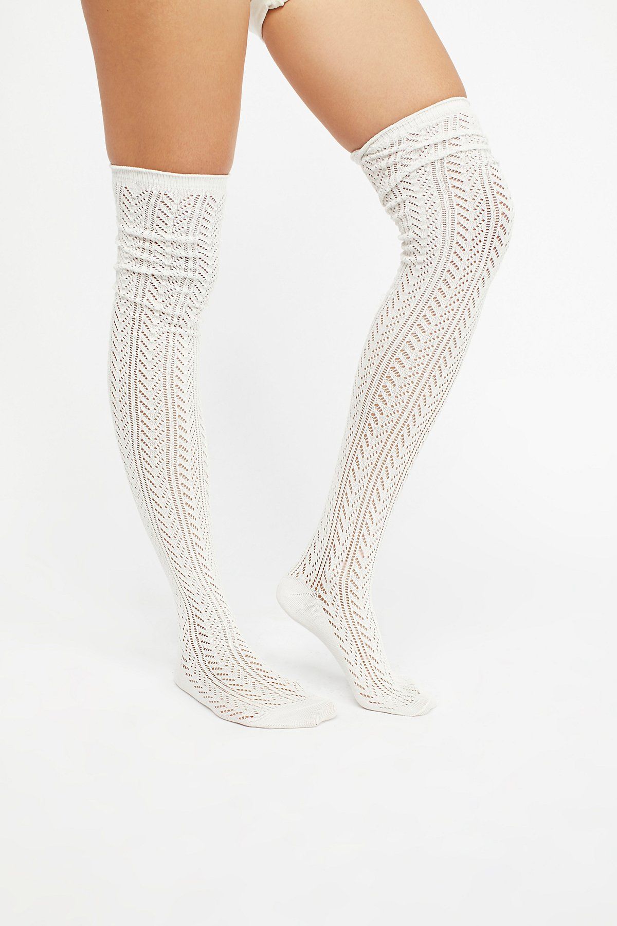 Canberra Pointelle Tall Sock