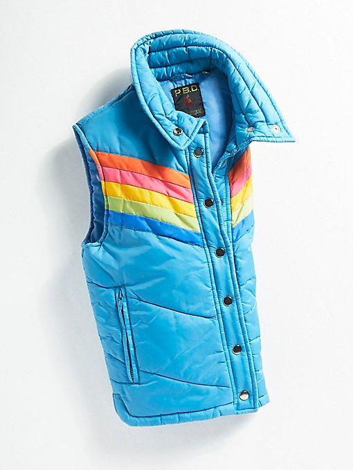 Product Image: Vintage 1970s Rainbow Stripe Vest