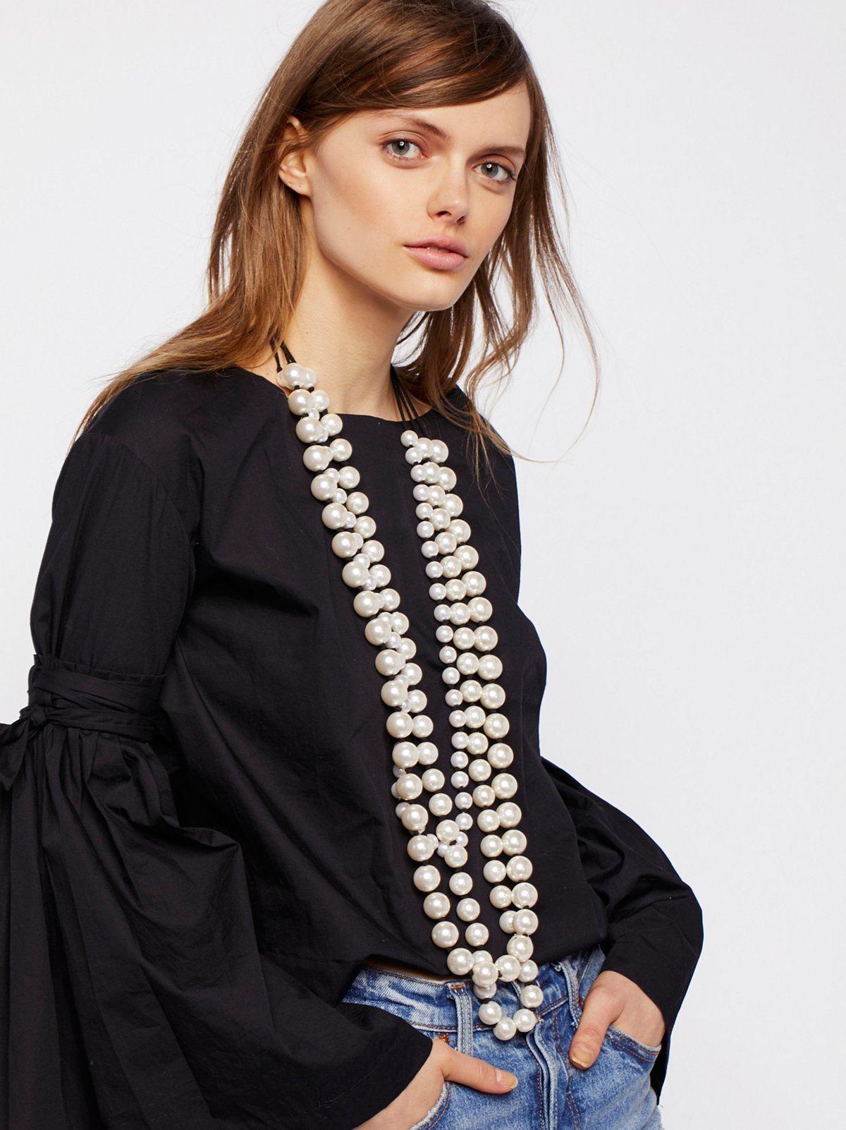 Selene Statement Pearl Necklace
