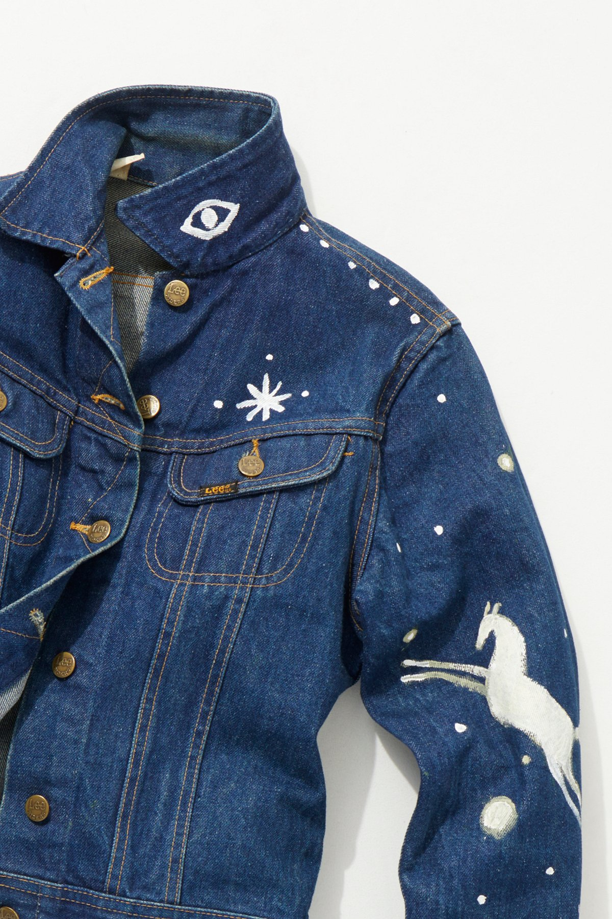 Vintage 1970s Hand Painted Denim Jacket
