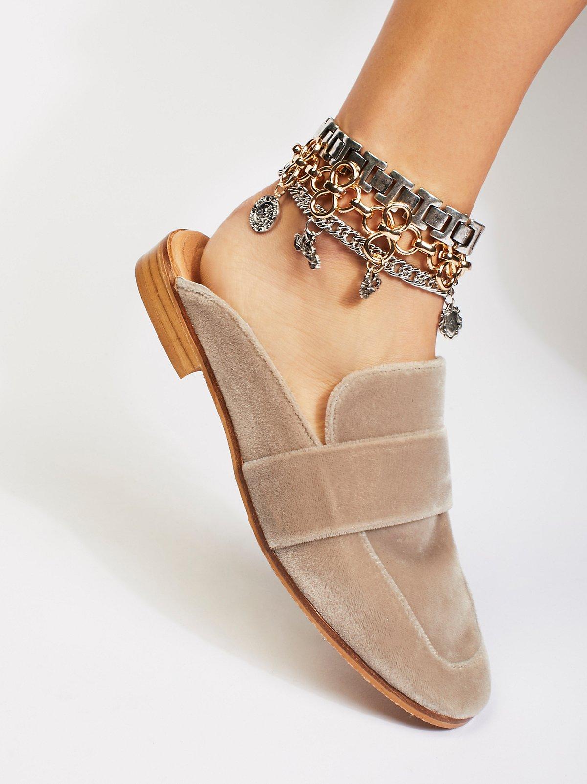 Triple Charm Anklet Set