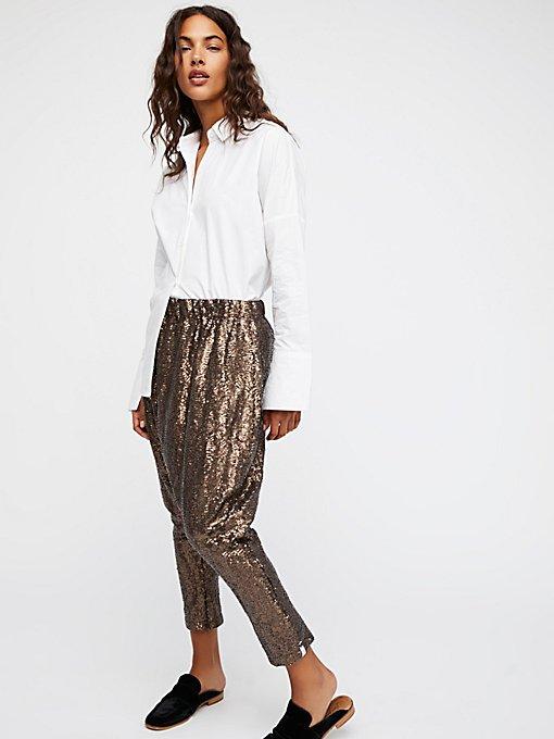 Product Image: Shiny Sequin Harem Pants