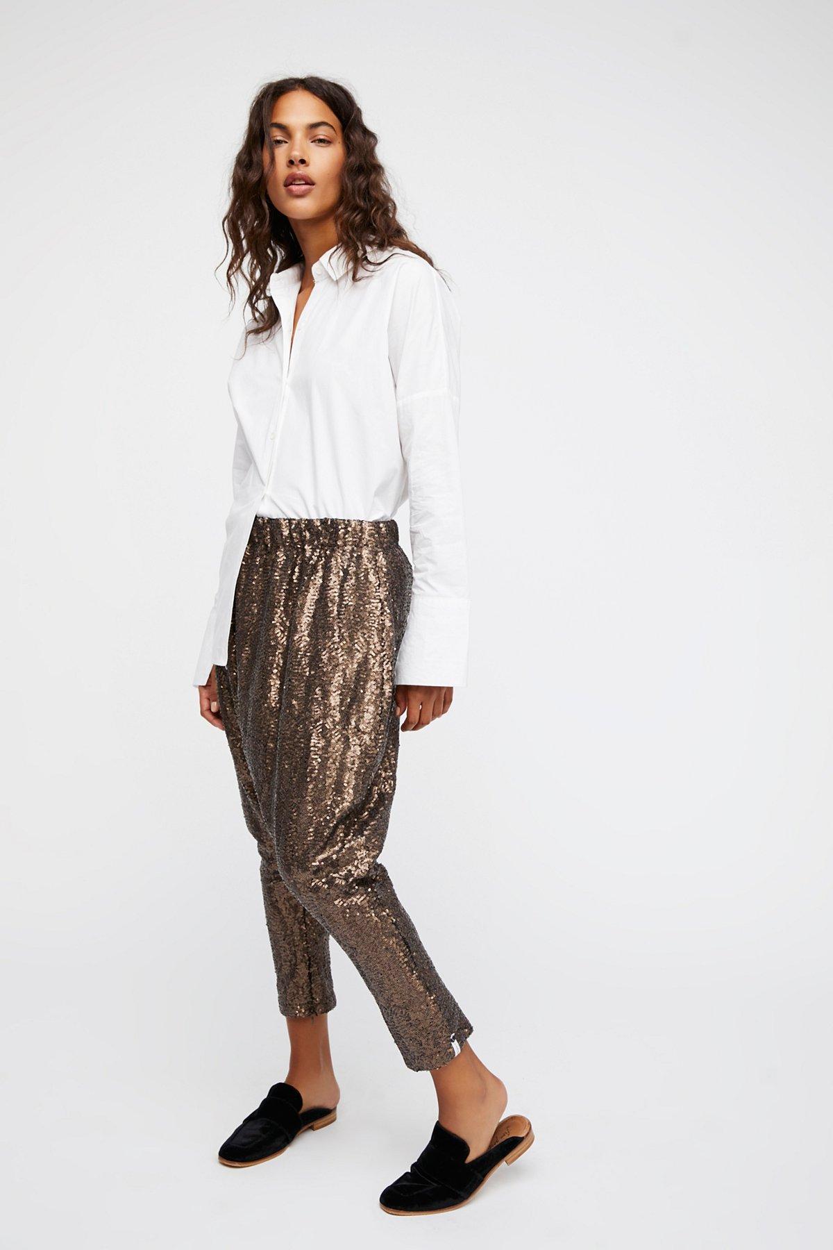 Shiny Sequin Hareem Trousers