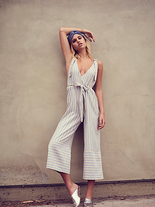Product Image: Yarn Dye Stripe Overalls