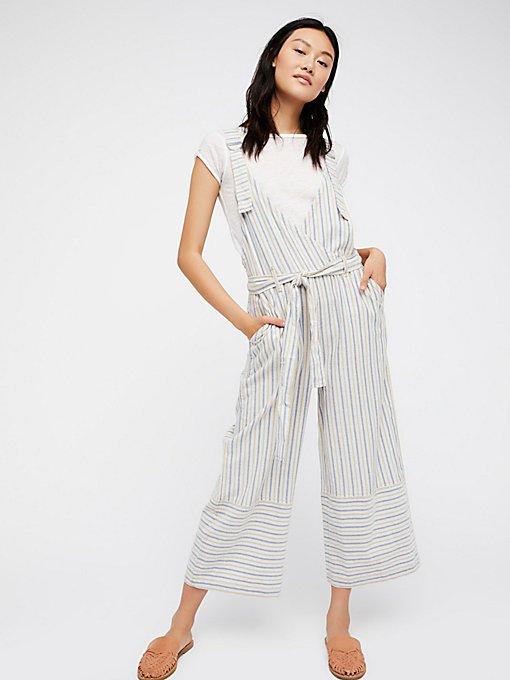 Product Image: 纱线染色条纹工装裤