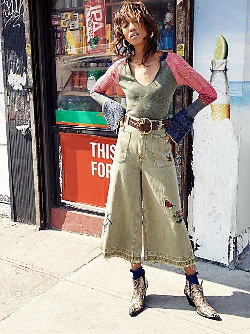 Product Image: Embellished Dusk Crop Jean