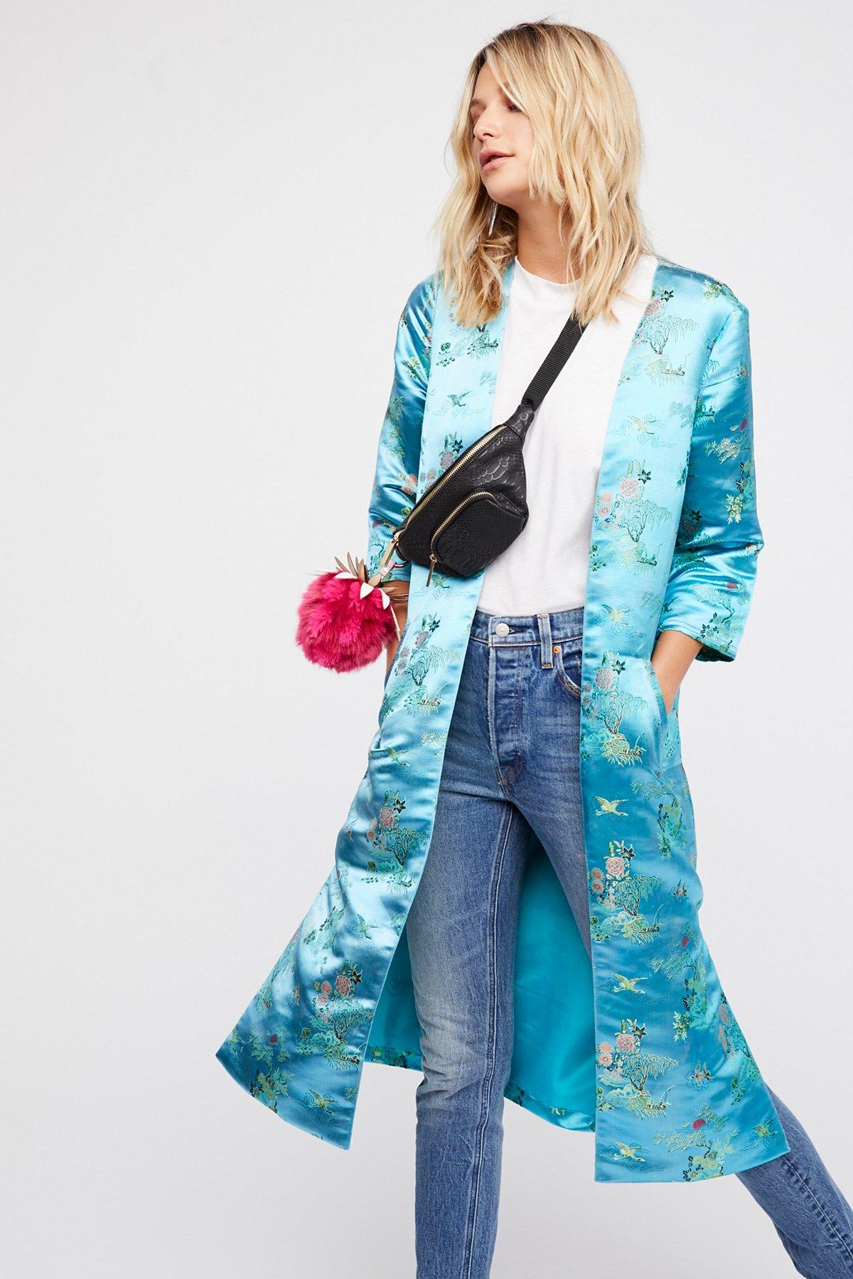 Multicolor Kimono Duster