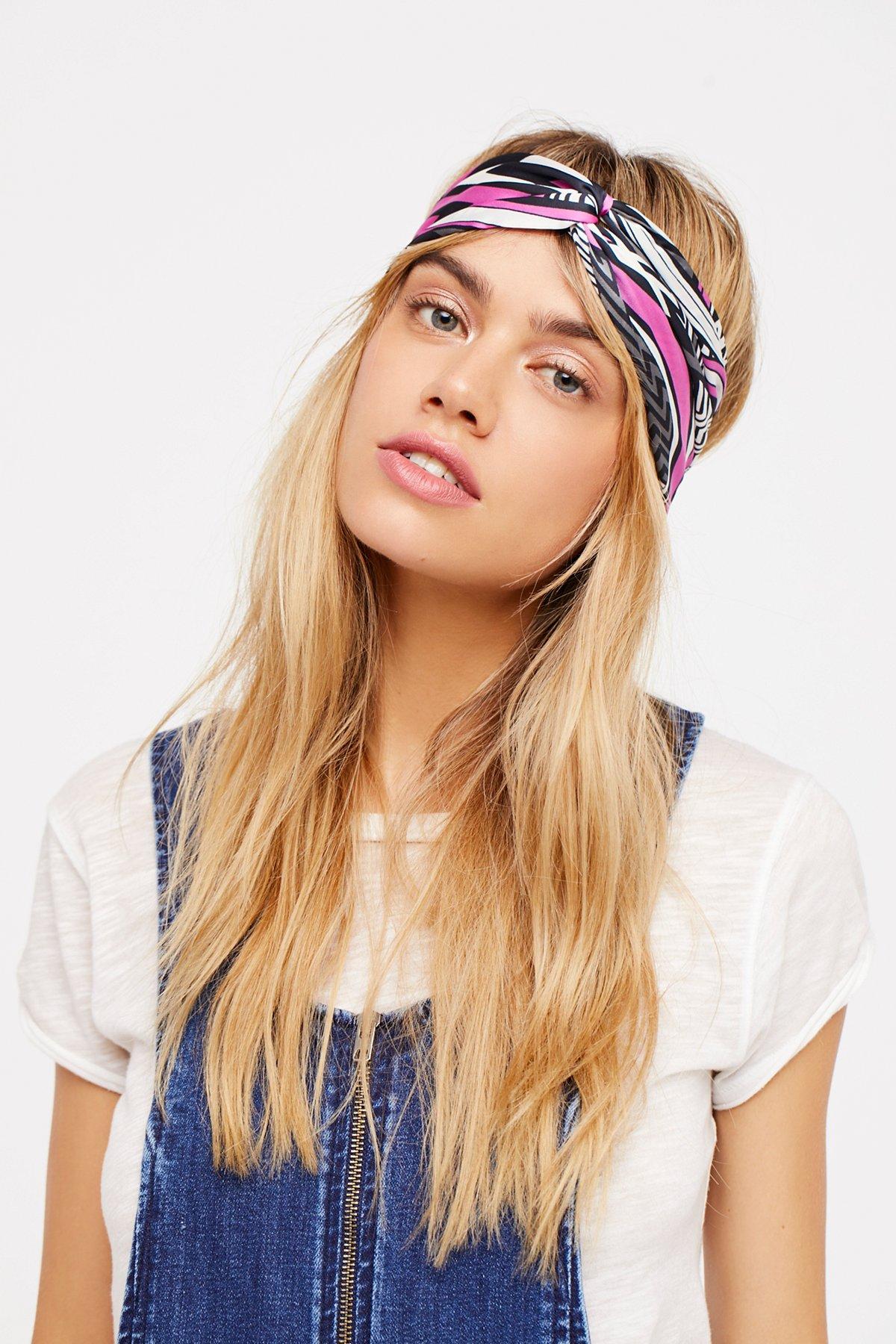 Mixed Print Silky Turban