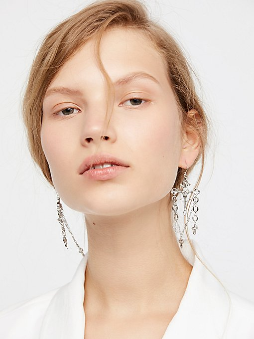Product Image: Charmed Cross Earrings