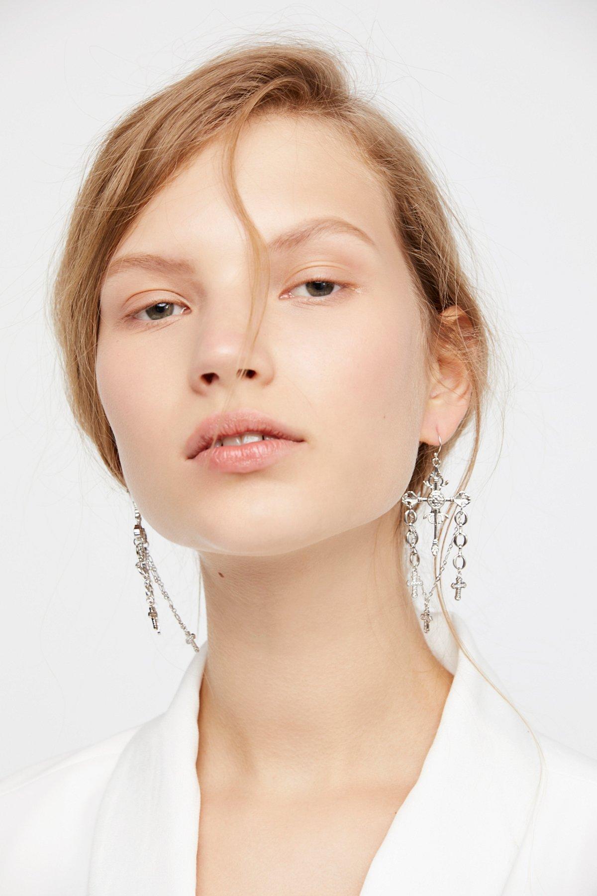 Charmed Cross Earrings