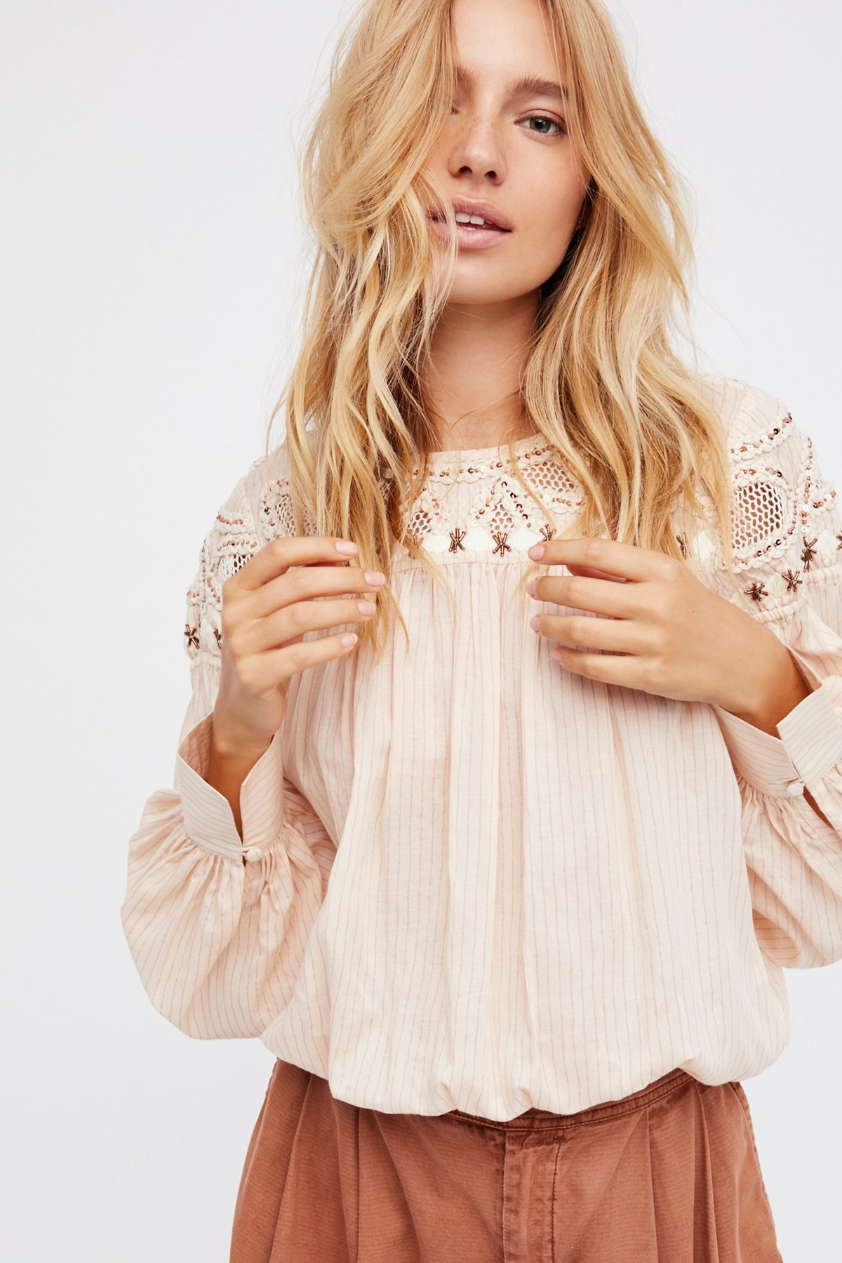 Dream Away Embroidered Top
