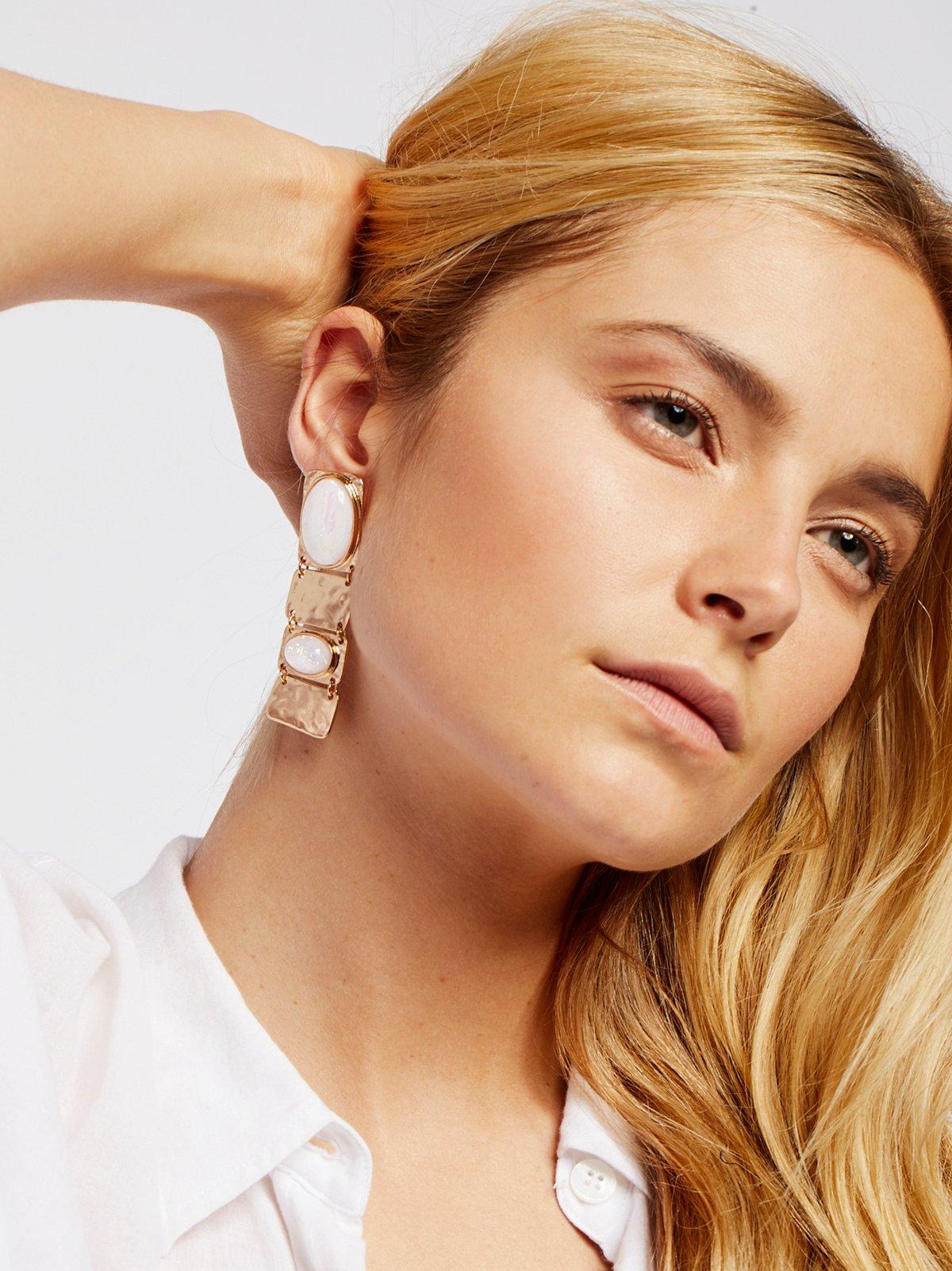 Sahara Opal Plate Earrings