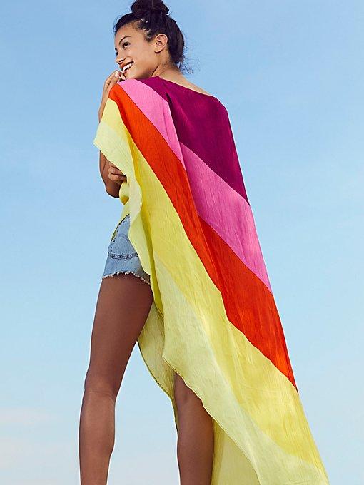 Product Image: Neon Rainbow Asymmetrical Kaftan