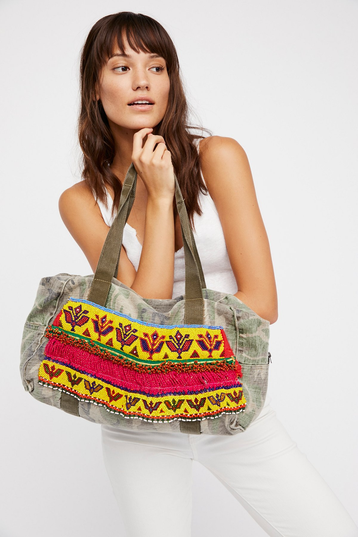 Hmong Embellished Tote