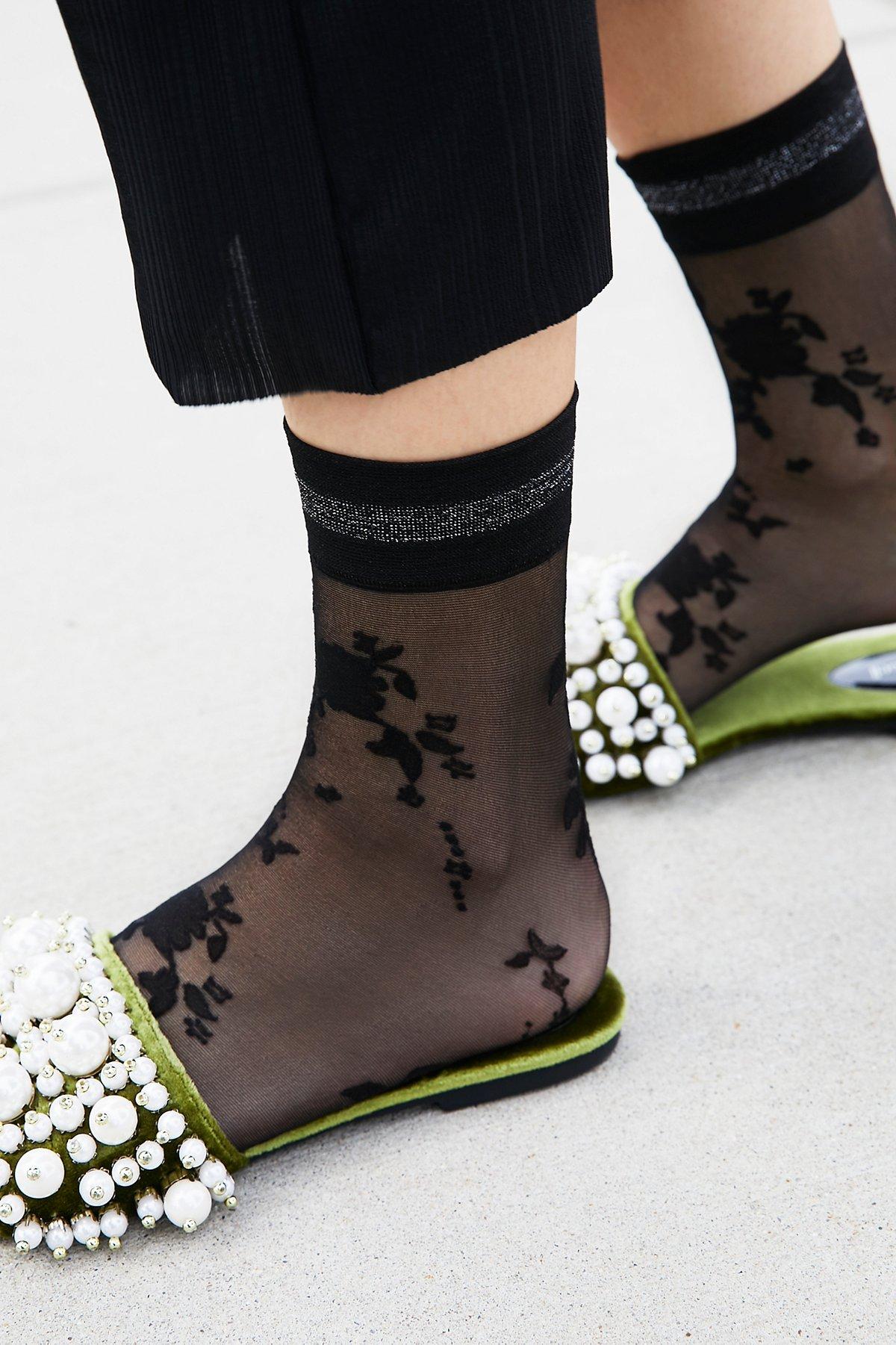 Mariposa花卉运动短袜