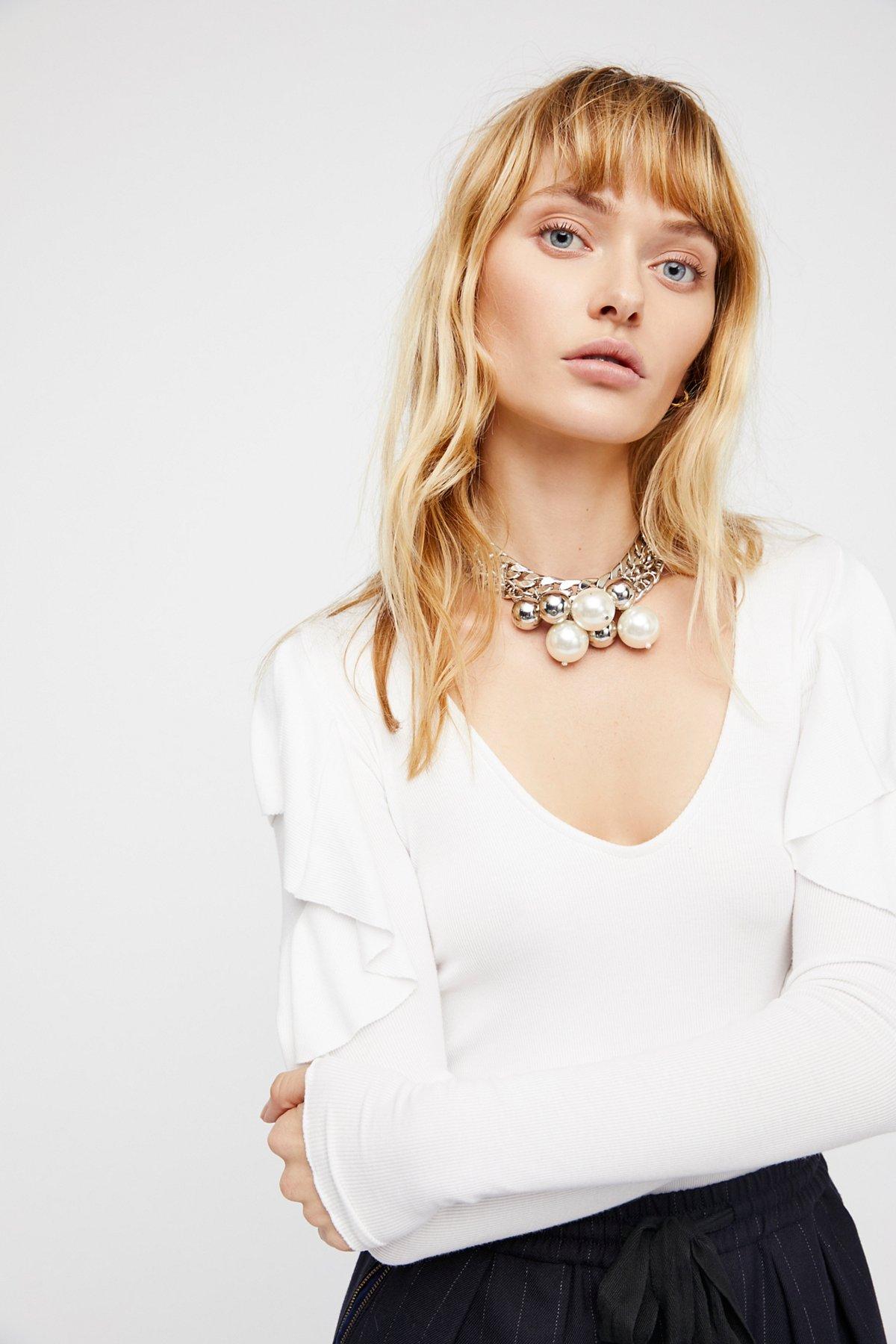 Mirror Ball x Pearl Chain Collar