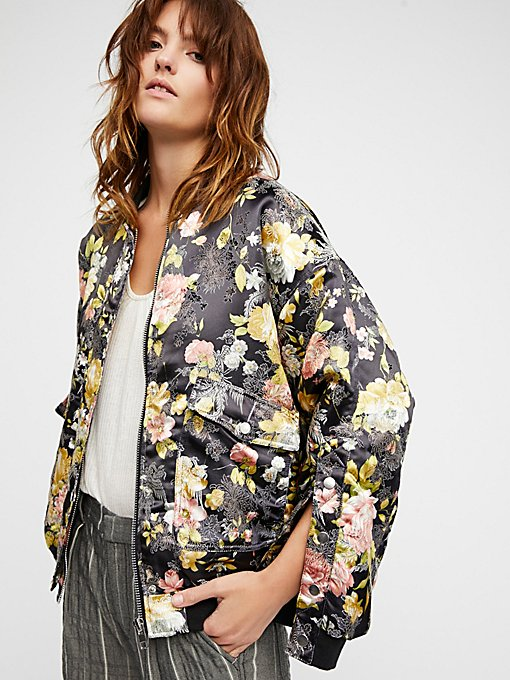 Product Image: Floral Jacquard Bomber