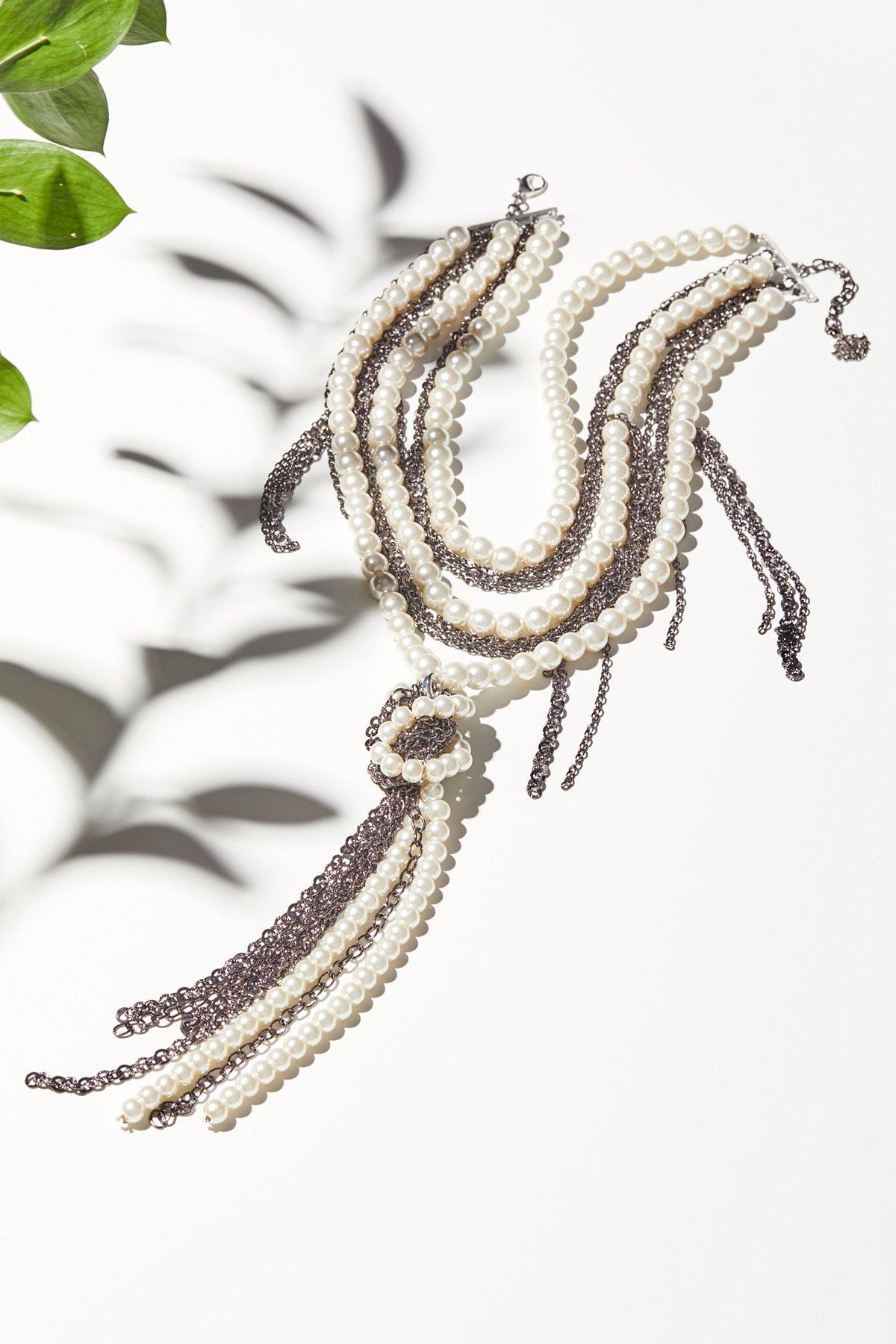 珍珠 x 链结项链
