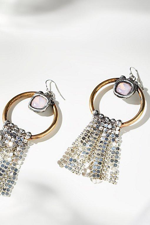 Product Image: 绿松石Monarch链甲垂坠耳环