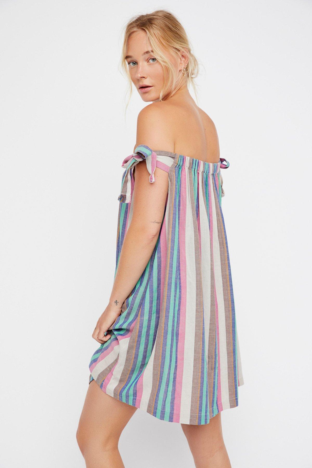 Just Right Striped Mini Dress