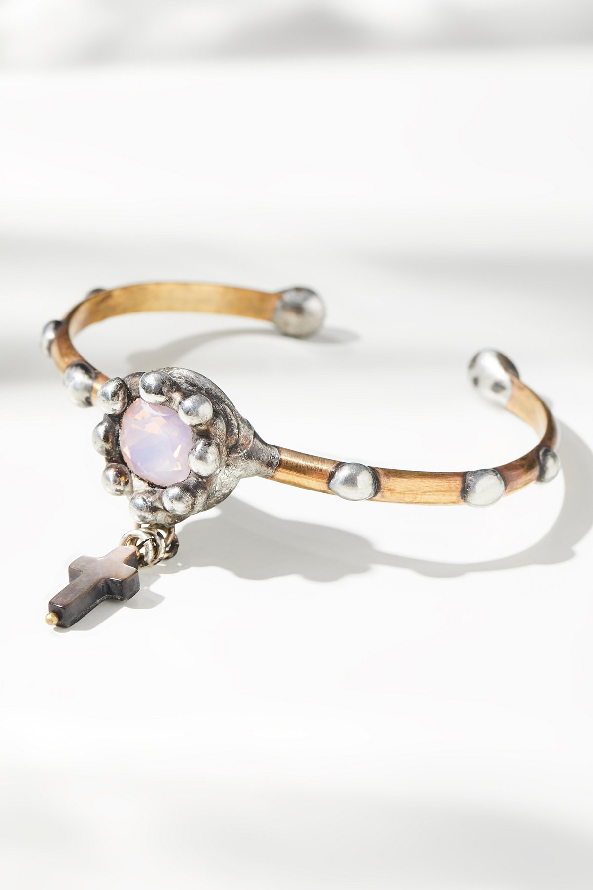 Mother Of Pearl Charm Drop Cuff