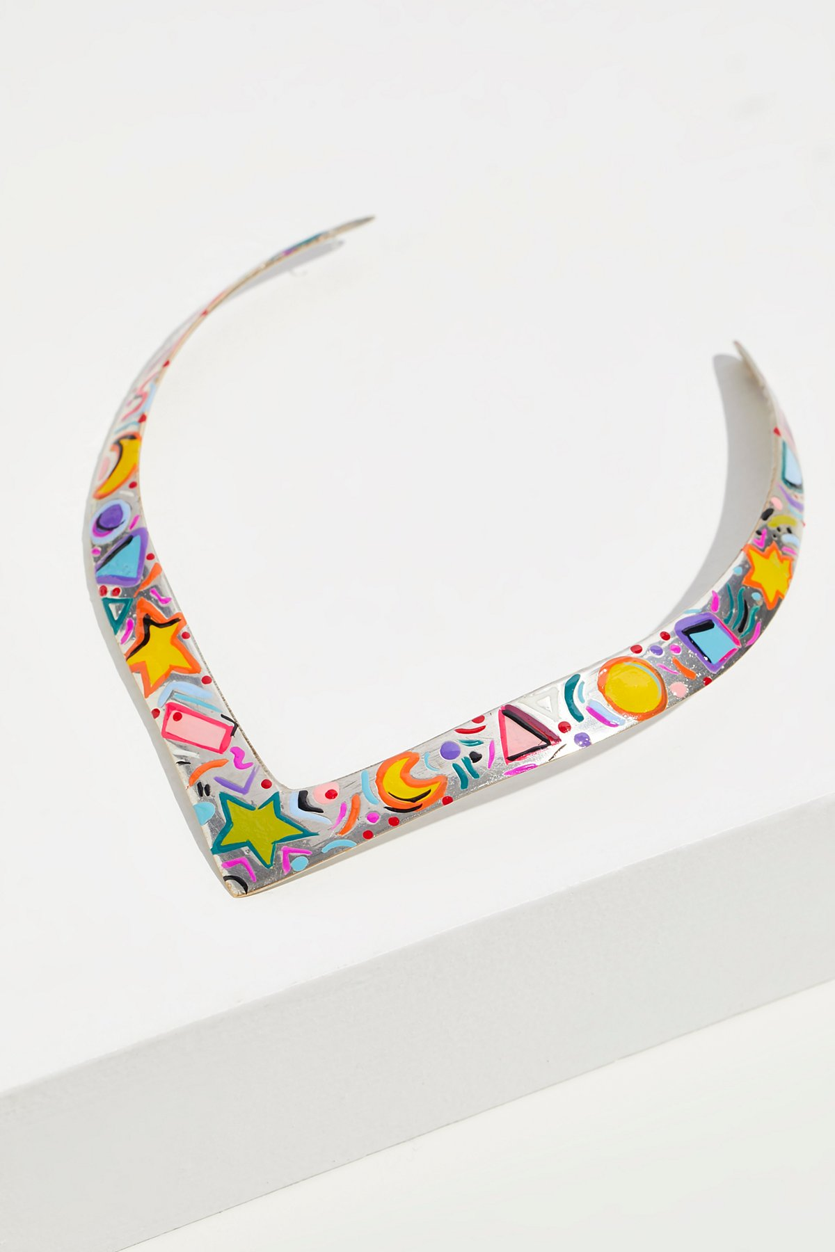 Hand Painted Happy Collar