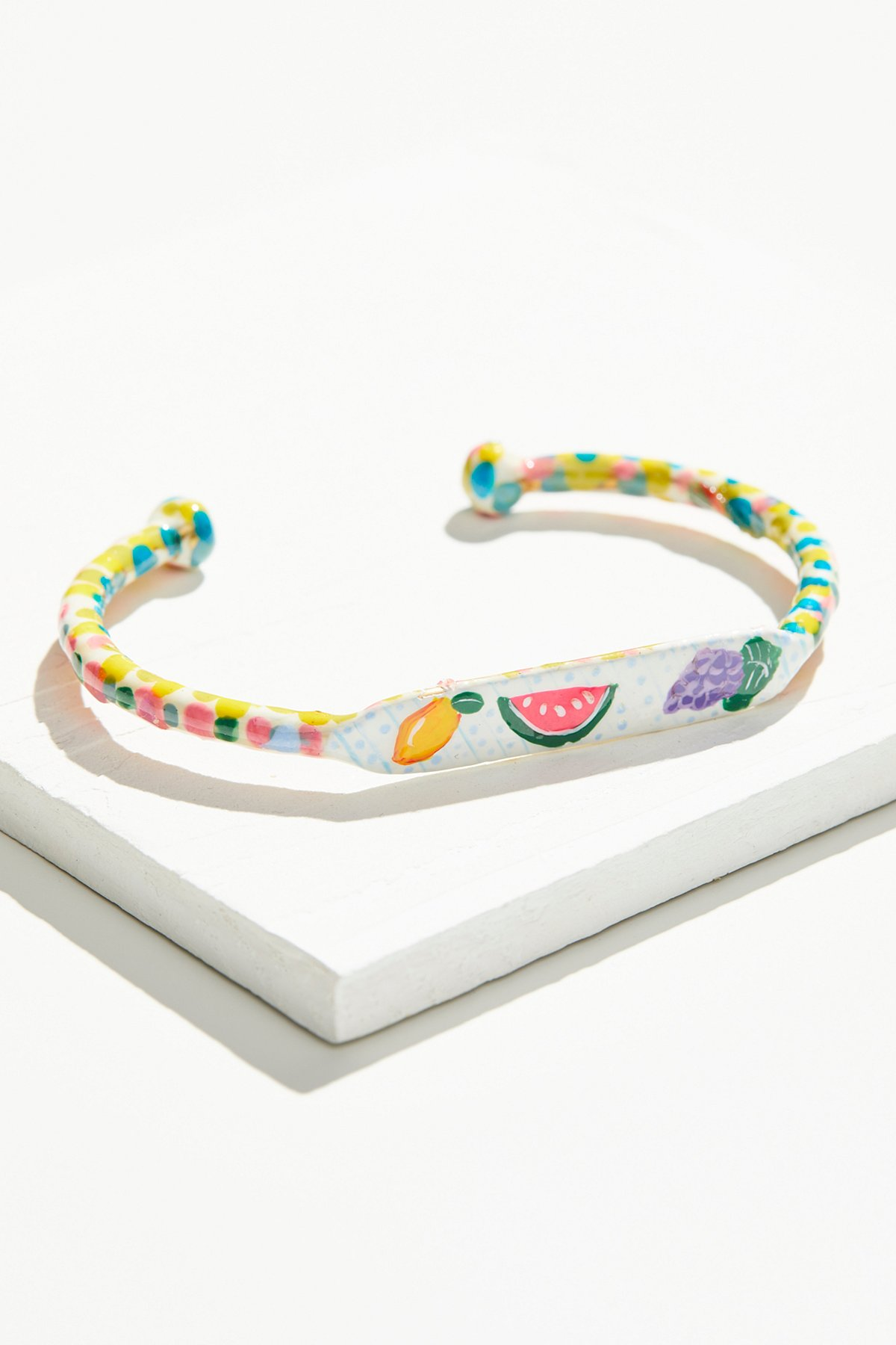 Hand Painted Cabana Fruit Cuff