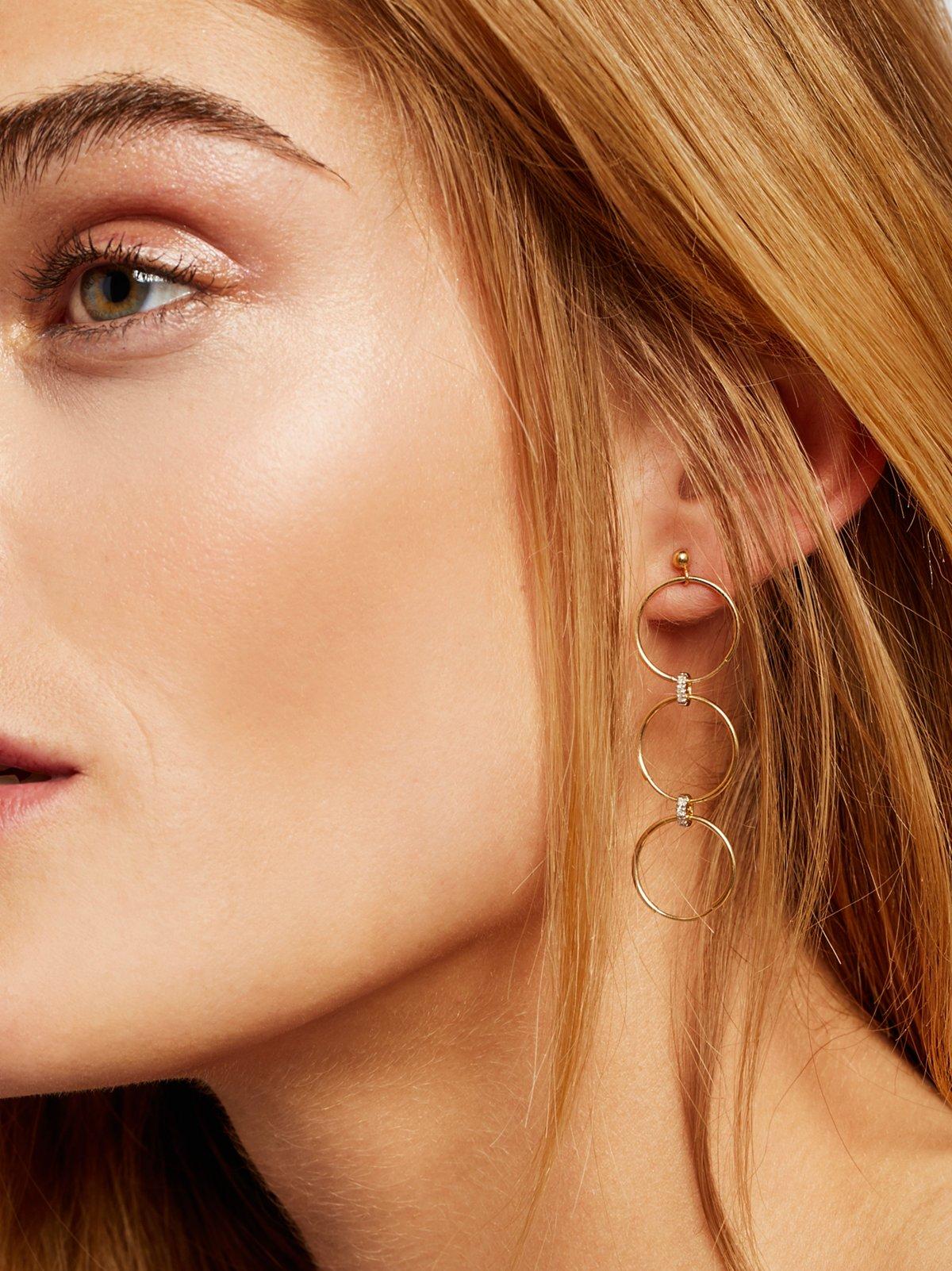 14K Diamond Convertible Earrings