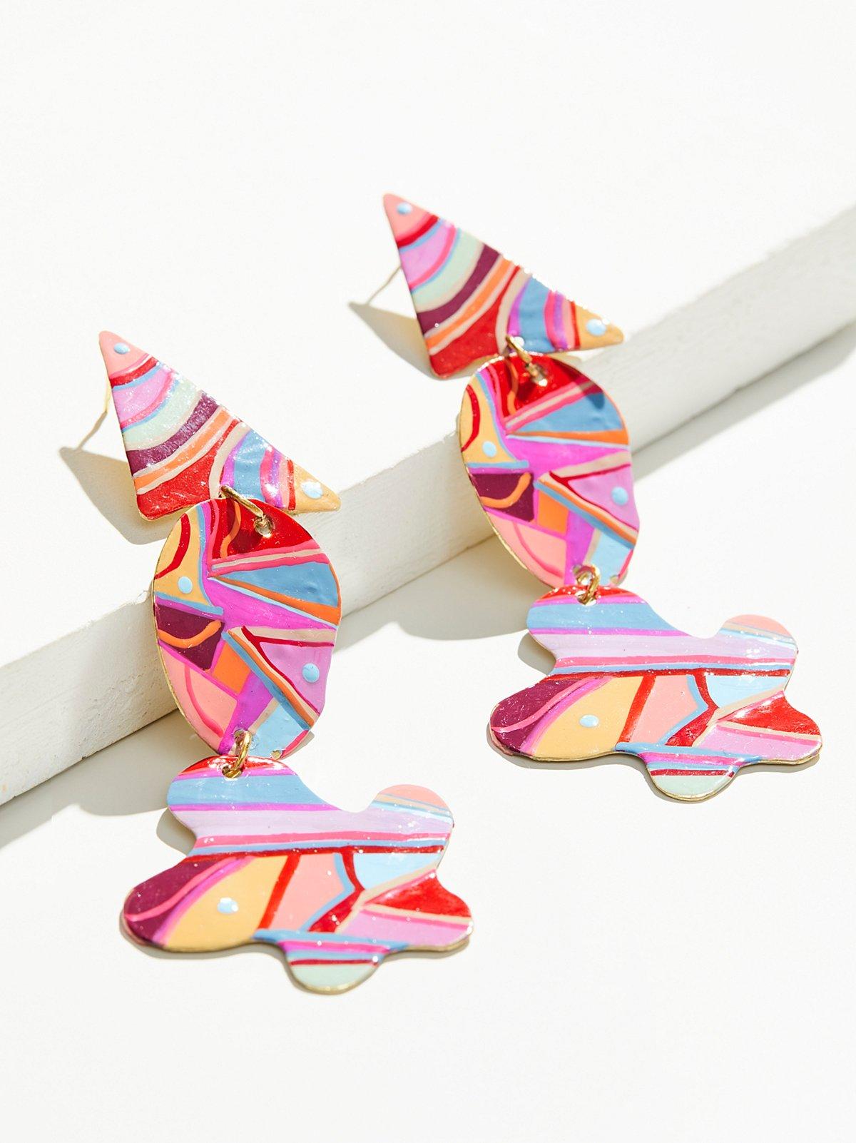 Hand Painted Gilda Earrings