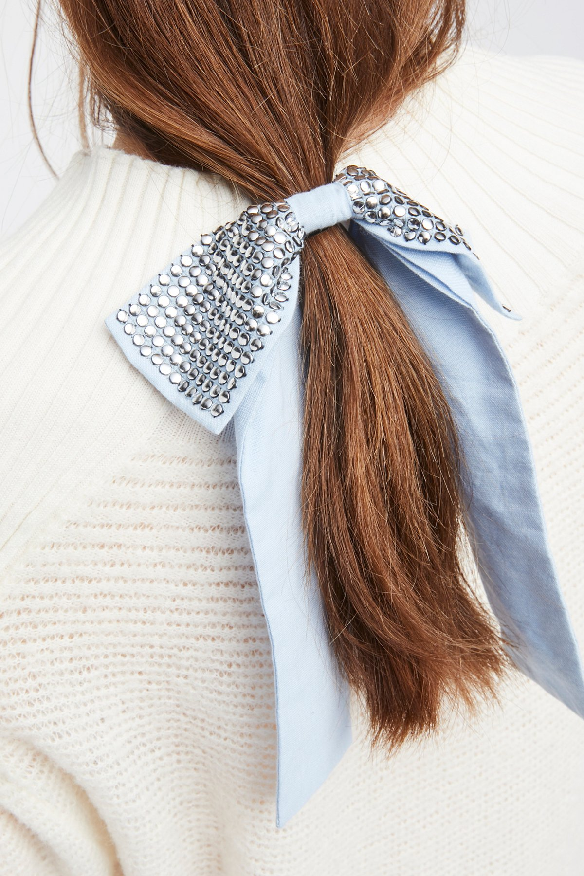 Studded Bow Hair Tie