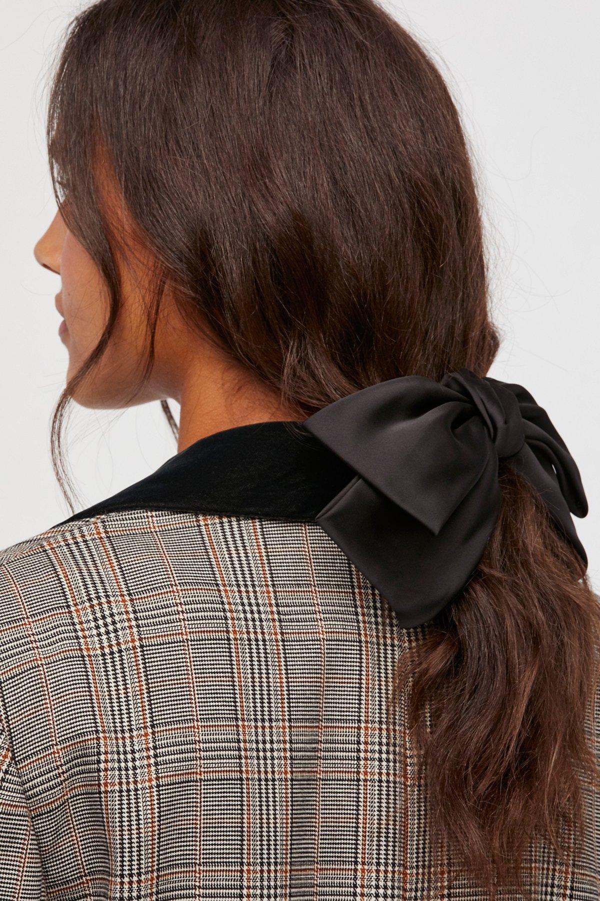 丝绸蝴蝶结发夹