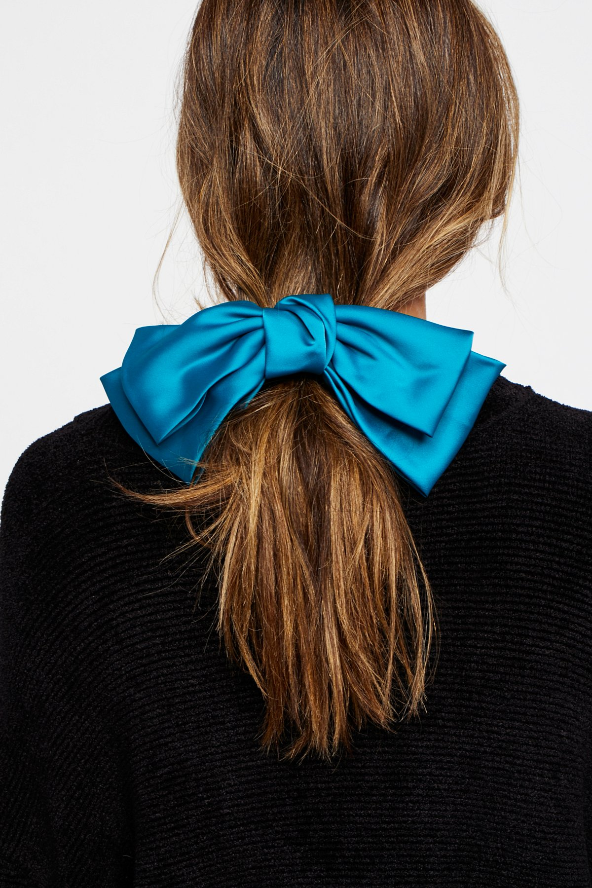 Black bow hair accessories - Product Image Silk Bow Barrette