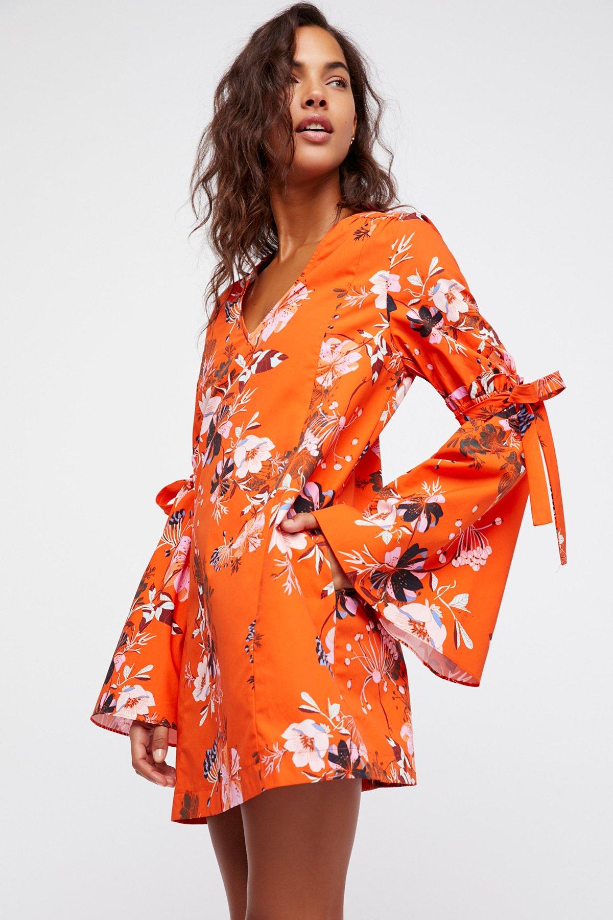 Lover Of Mine Printed Mini Dress