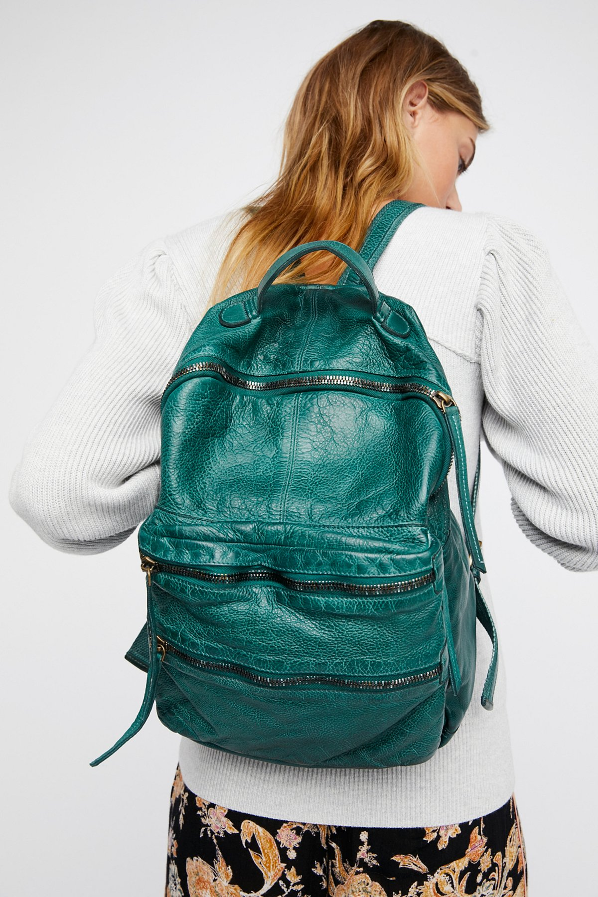 Nico Washed Leather Backpack