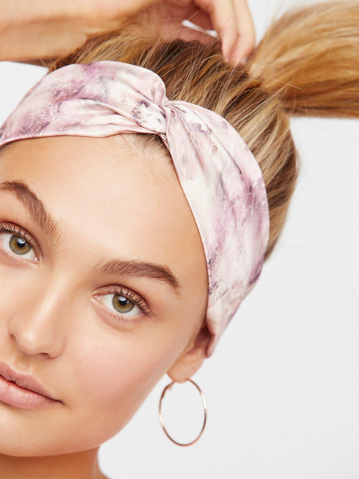 大理石花纹头巾