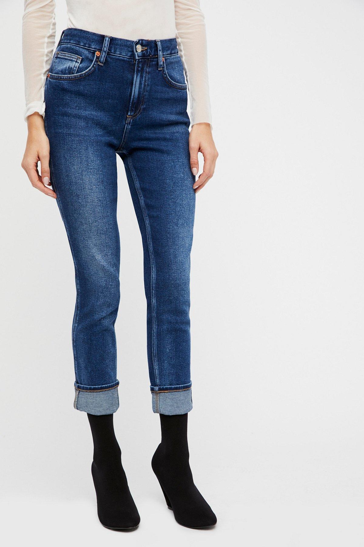Deep Cuff Skinny Jeans
