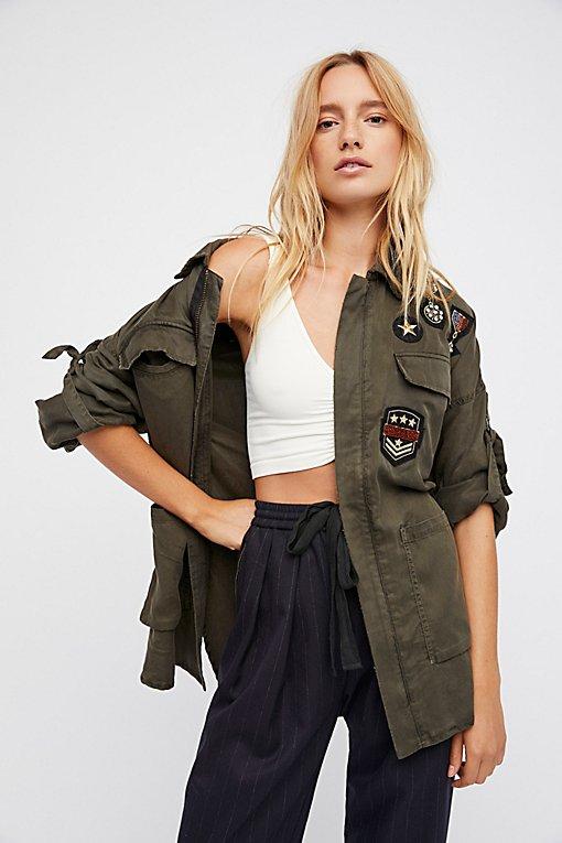 Product Image: Drapey Military Shirt Jacket