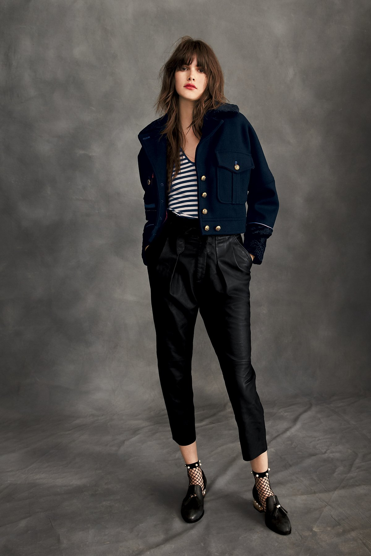 Nightfall Cropped Leather Trousers