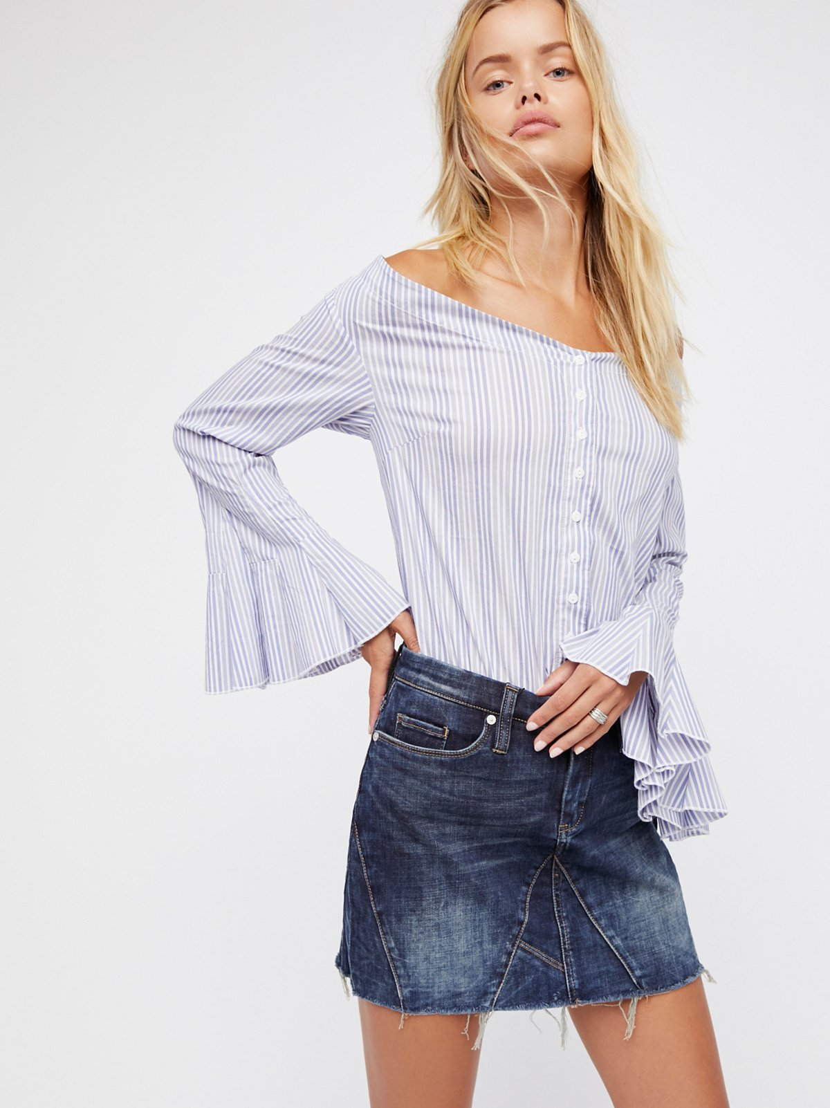 Side Hustle Denim Skirt