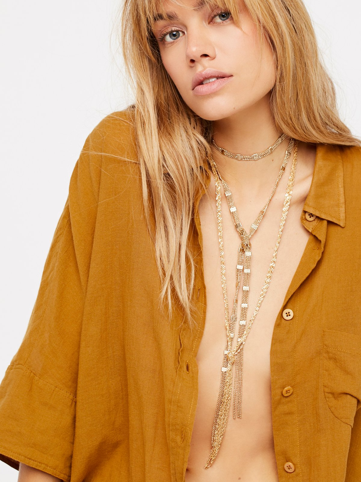 Chain Wrap Scarf Necklace